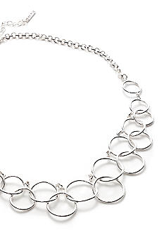 Nine West Circle Link Necklace