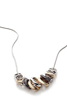 Nine West Multi Texture Chain Necklace