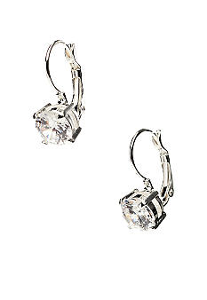Nine West Cubic Zirconia Lever Back Earrings