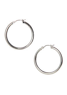 Nine West Classic Tube Hoop Earring