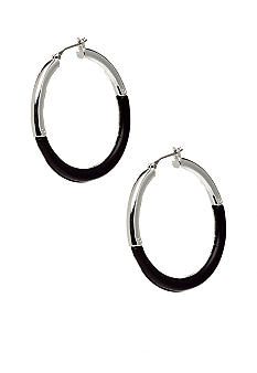 Nine West Two Tone Hoop Earring