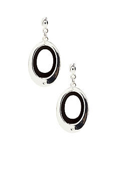 Nine West Two Tone Oval Drop Earrings