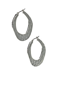 Nine West Hammered Hoop Earring