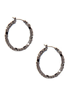 Nine West Beaded Hoop Earring