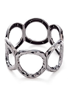 Nine West Hammered Circle Stretch Bracelet