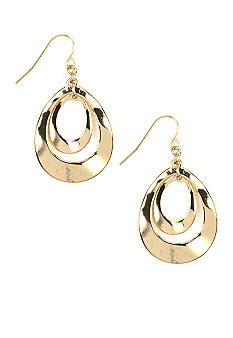 Nine West Pierced Orbital Leverback Earrings