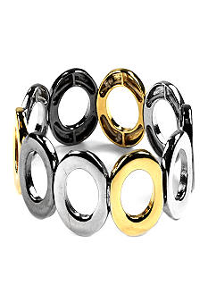 Nine West Tri-Color Oval Stretch Bracelet