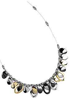 Nine West Tri-Color Oval Drop-Off Necklace