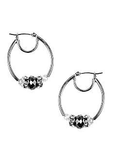 Nine West Small Click It Hoop Earrings