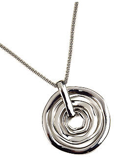 Nine West Silver Orbital Pendant Necklace