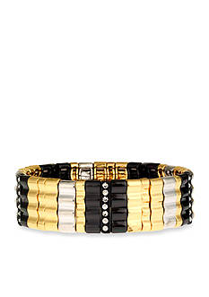 Nine West Tri-Color Stretch Bracelet
