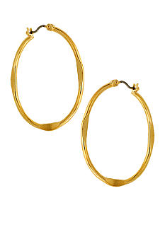 Nine West Hoopla Medium Hoop Earrings