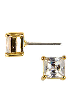Nine West Square Social Crystal Stud Earrings