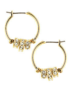 Nine West Click It Slider Hoop Earrings