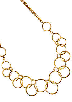 Nine West Link Frontal Necklace