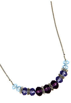 Nine West Beaded Frontal Necklace