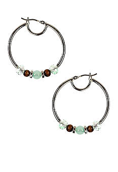 Nine West Shore Thing Click It Hoop Earring