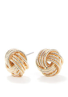 Nine West Gold Knot Earring