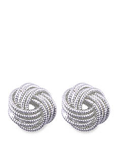 Nine West Knot Button Earring