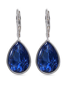 Nine West Blue Leverback Teardrop Earring