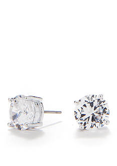 Nine West Large Round CZ Stud Earrings