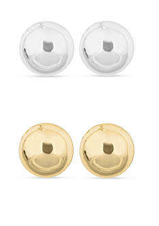 Nine West Silver and Gold Stud Earring Set