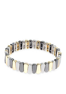 Nine West Tri-Tone Metal Stretch Bracelet