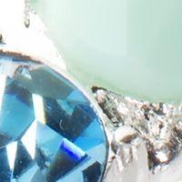 Jewelry & Watches: Nine West Fashion Jewelry: Blue Nine West Gold Tone and Coral Stretch Bracelet