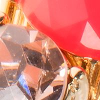 Jewelry & Watches: Nine West Fashion Jewelry: Pink Nine West Gold Tone and Coral Stretch Bracelet