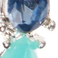 Jewelry & Watches: Nine West Fashion Jewelry: Blue Nine West Silver Tone and Blue Small Stone Hoop Earrings
