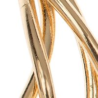 Hoop Earrings: Gold Nine West Shiny Silver Tone Twisted Hoop Earrings