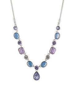Nine West Silver-Tone Lucky Lavender Y-Neck Necklace