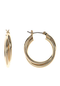 Nine West Infinite Shine Twist Hoop Earrings
