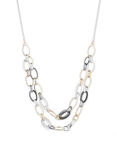 Nine West Mixed Medley Chain Link Frontal Necklace