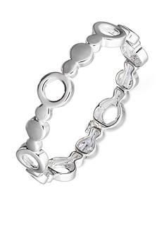 Nine West Silver-Tone Stretch Bracelet