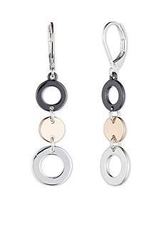 Nine West Tri-Tone Linear Earrings