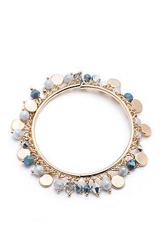 Nine West Gold-Tone Gray Stretch Bracelet