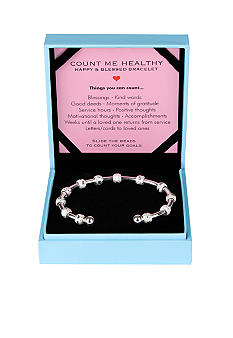Chelsea Charles Count Me Healthy Happy and Blessed Silver Bracelet