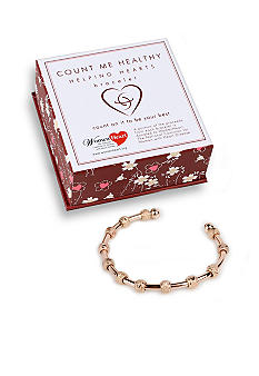 Chelsea Charles Count Me Healthy Helping Hearts Rose Gold Bracelet