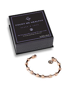 Chelsea Charles Count Me Healthy Peace and Love Rose Gold Bracelet with Peace Sign Charm