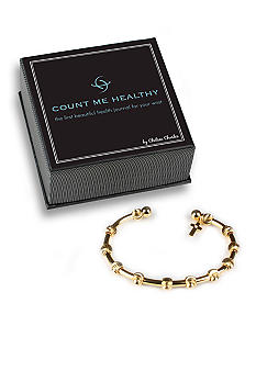 Chelsea Charles Count Me Healthy Golden Grace Bracelet with Diamond-Center Cross Charm