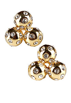 Chelsea Charles Crystal Cluster Studs - Gold