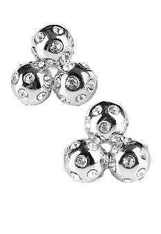 Chelsea Charles Silver Crystal Cluster Studs