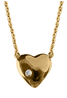 Chelsea Charles Petite Gold Heart Necklace with Diamond