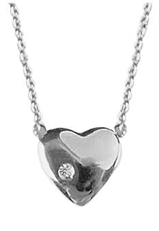 Chelsea Charles Petite Heart Sterling Necklace with Diamond