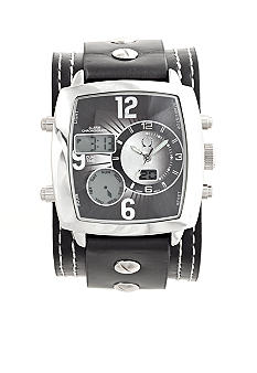 Legion Wide Rectangular Strap Watch