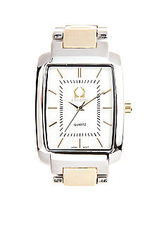 Legion Two-Tone Rectangular Link Watch