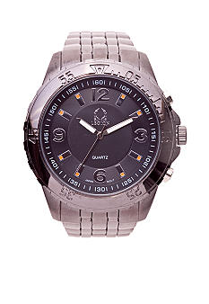 Legion Round Gunmetal Link Watch