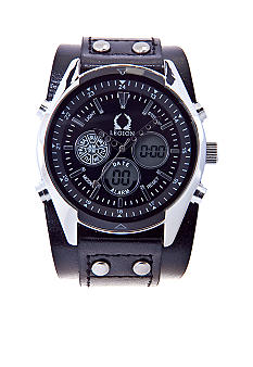 Legion Black Cuff Strap Watch
