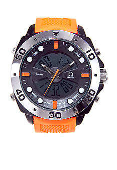 Legion Orange Rubber Strap Watch